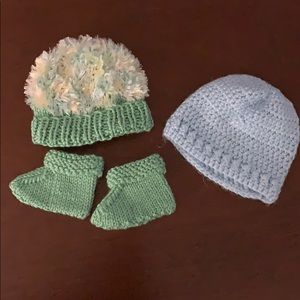 Other - Hand knitted baby hats and booties